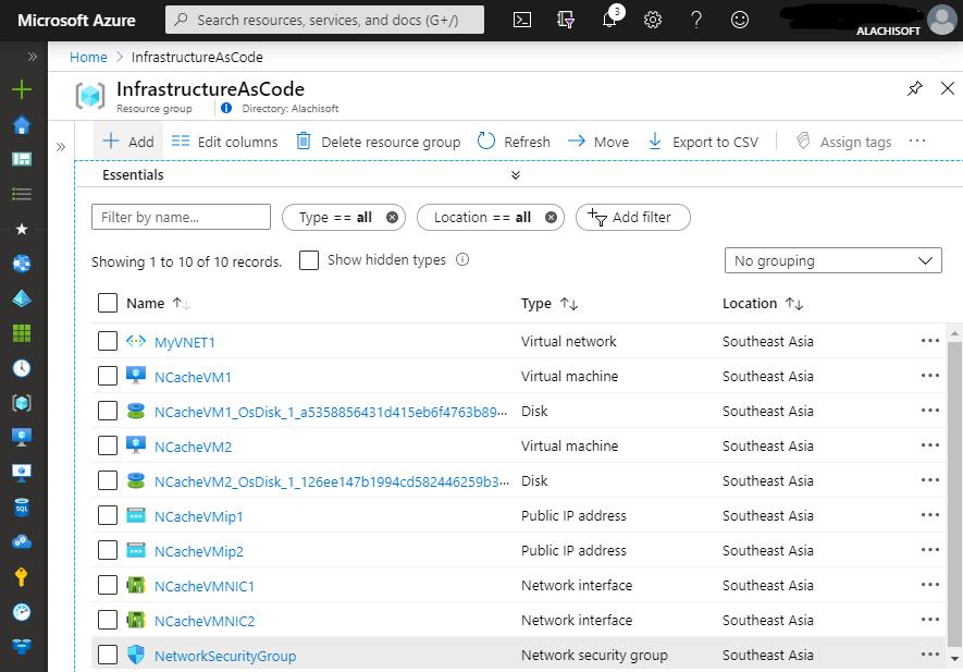 NCache deployment in Azure through Infrastructure as Code