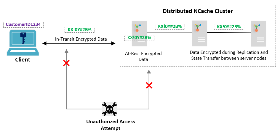 Encrypted Data In-Transit and At-Rest in NCache