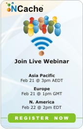 Live Webinars NCache!