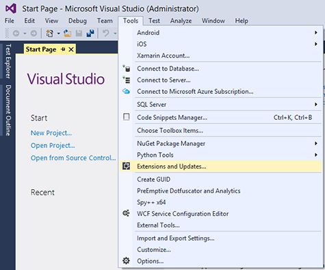 Visual Studio Extensions Gallery