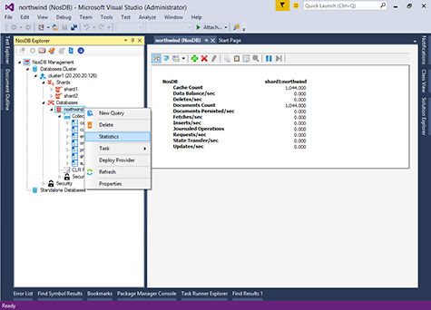 NosDB in Visual Studio