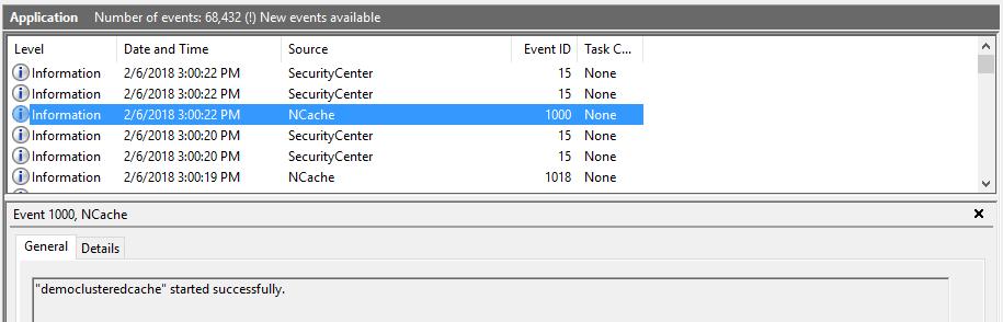 Windows Event Logs | NCache Docs