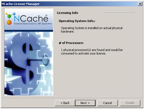 NCache Online License Activation