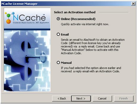 NCache Activation Method