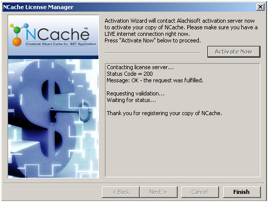 Online NCache Activation
