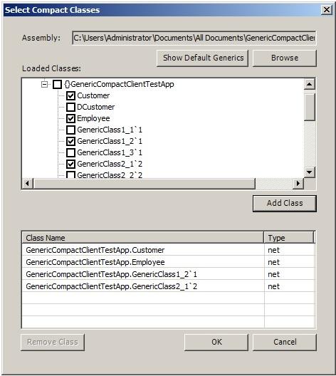 Compact Classes in Serialization